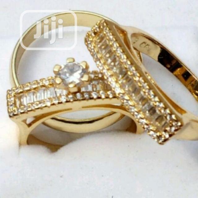 Italian Gold Wedding Ring Set