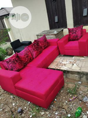 L-shaped Sofa With One Single   Furniture for sale in Lagos State, Maryland