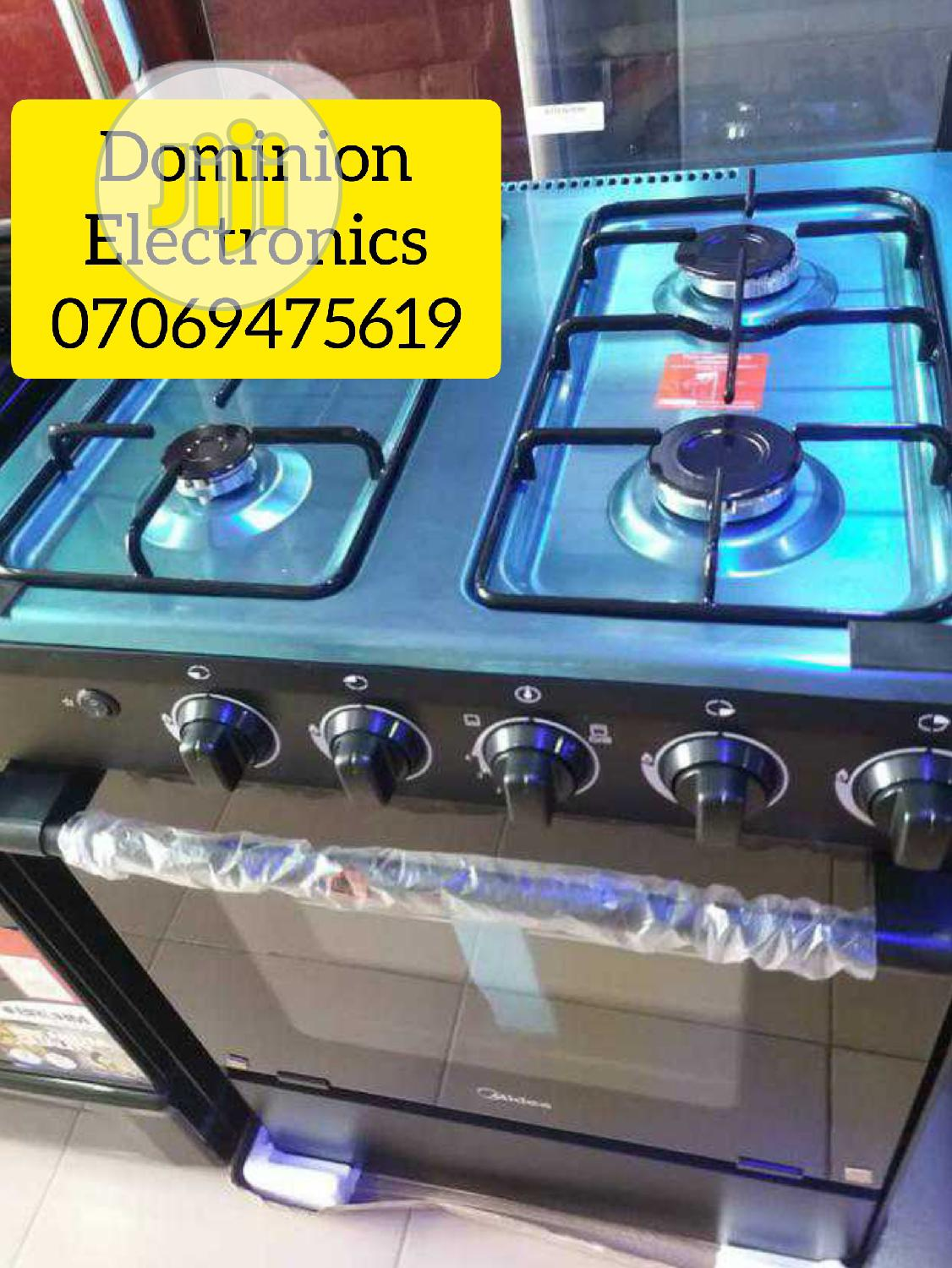 Original Midea Standing Gas Cooker 4burners With Oven 50×50