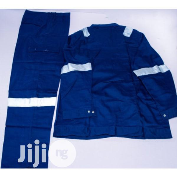 Safety Reflective Coverall (Up And Down) - Blue