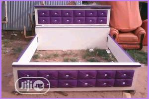 Classic Purple Designed Bed Frame | Furniture for sale in Lagos State, Ikeja