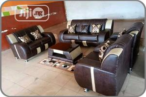 Comfortable 7 Seater Leather Sofa With Center Table | Furniture for sale in Lagos State, Ikeja