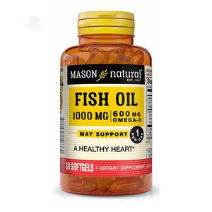 Mason Natural Fish Oil 1000mg/600mg Omega 3 X 30 | Vitamins & Supplements for sale in Lagos State, Surulere