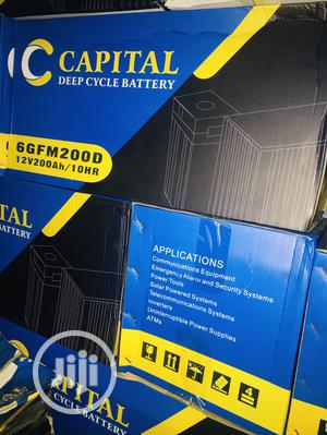 200ah 12v Capital Battery Available With 1yr Warranty | Solar Energy for sale in Lagos State, Ikeja