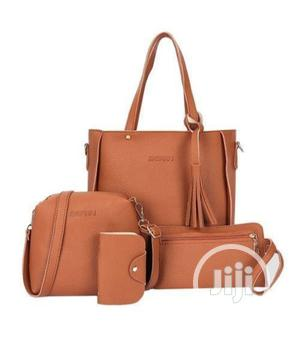 4 in 1 Sets Quality Ladies Handbag(Leather) Brown and Black   Bags for sale in Lagos State, Isolo