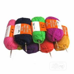 8 Pieces Colorful Knitting Yarn + 6 Crochet Pins | Babies & Kids Accessories for sale in Lagos State, Ojodu