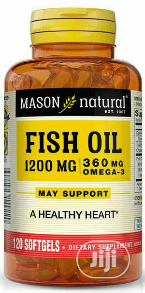 Mason Natural Fish Oil 1200mg/ 300mg Omega X 120   Vitamins & Supplements for sale in Lagos State, Surulere