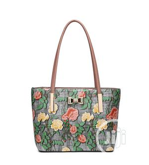 Ladies Large Designer Faux Leather Floral Diamante Bag | Bags for sale in Lagos State, Oshodi