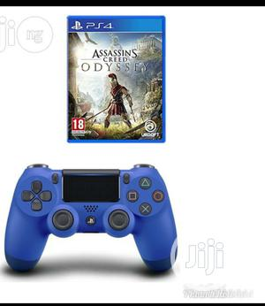 Ps4 Controller Pad + Creed Odyssey Blue   Video Games for sale in Lagos State, Ikeja