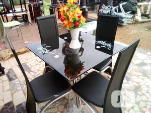 Square Dinning Table With 4 Chairs   Furniture for sale in Lagos State, Ifako-Ijaiye