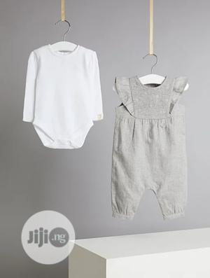 Embroidered Dungarees and Bodysuit Outfit   Children's Clothing for sale in Lagos State, Surulere