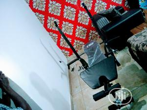 Original Weight Bench With 50kg Weight Plates Dumbbell   Sports Equipment for sale in Lagos State, Badagry