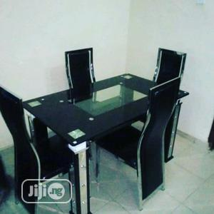 Quality Glass Dinning Table 4 Chairs | Furniture for sale in Abuja (FCT) State, Wuse