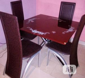 Quality Glass Dinning Table 4 Chairs   Furniture for sale in Abuja (FCT) State, Wuse