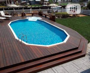Above Ground Pool Deck Construction With Above Round Pool | Building & Trades Services for sale in Lagos State, Ajah