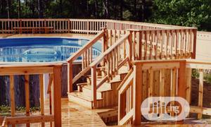 Pressure Treated Wood Above Ground Pool Deck Construction   Building & Trades Services for sale in Lagos State, Ajah