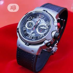 Hublot Ferrari Automatic Chronograph Silver Leather Watch | Watches for sale in Lagos State, Lagos Island (Eko)