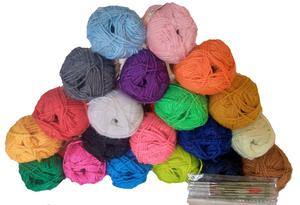 20 Pieces Colorful Knitting Yarn + 12 Crochet Pins | Arts & Crafts for sale in Lagos State, Ojodu