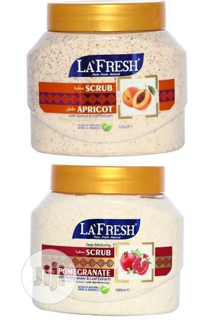 La'fresh Apricot Pomegranate Extract Body Scrub. 6pcs | Skin Care for sale in Lagos State, Amuwo-Odofin