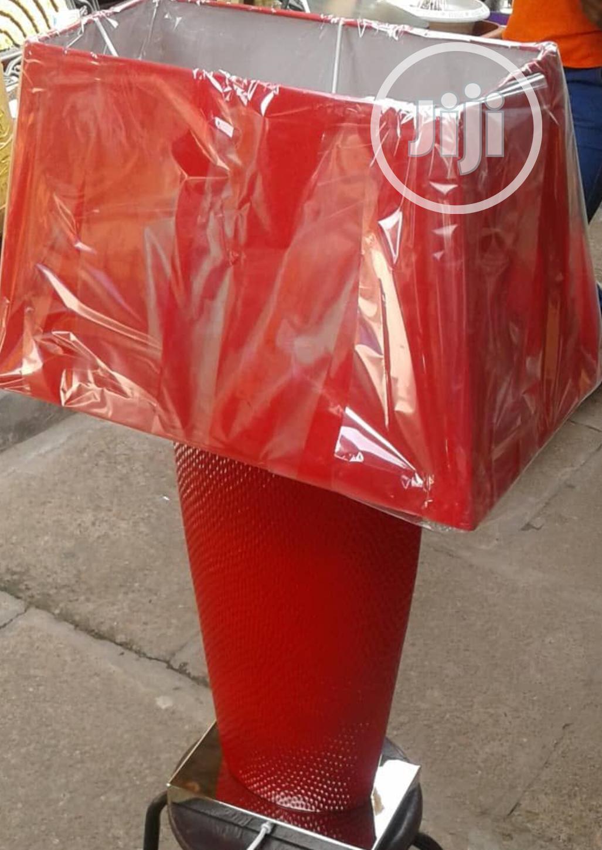 CIMC Bahamas Table Lamp With Red Shade