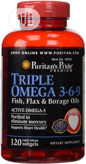 Puritan's Pride Triple Omega 3-6-9 120softgel   Vitamins & Supplements for sale in Lagos State, Lekki