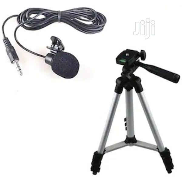Tripod Stand + Phone Selfie Ring Light + 3.5mm Lapel Mic   Accessories for Mobile Phones & Tablets for sale in Alimosho, Lagos State, Nigeria