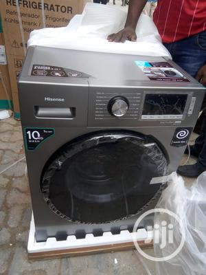 Hisense Washing Machine Automatic 10kg Washer And Dryer | Home Appliances for sale in Lagos State, Ojo