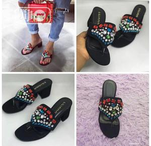 Block Heel Sandals And Slippers   Shoes for sale in Lagos State, Magodo