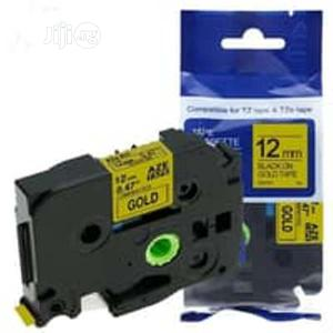 Compatible Brother Tz 12mm Black On Gold Laminated Tape   Stationery for sale in Lagos State, Ogudu