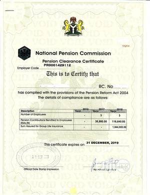 Process Pencom, Nsitf, Itf, Bpp, Frc Compliance Certificates   Tax & Financial Services for sale in Abuja (FCT) State, Central Business District
