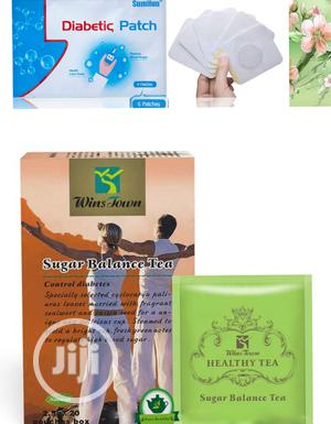 Total Cure for Diabetes With Herbal Tea+ Patch | Vitamins & Supplements for sale in Lagos State, Ikeja