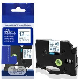 Compatible Brother Fabric Label Tape Blue on White | Accessories & Supplies for Electronics for sale in Lagos State, Ikeja