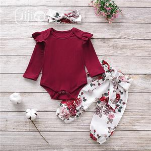 Baby 3 in 1 Overall and Pant Set Gift With Hair Band | Children's Clothing for sale in Lagos State, Amuwo-Odofin