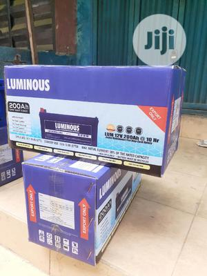 12v 200ah Luminous Battery Is Available   Solar Energy for sale in Lagos State, Ojo