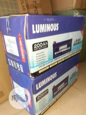 12v 200ah Luminous Battery Available   Solar Energy for sale in Lagos State, Ojo