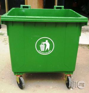 1100 Litre Waste Bin With 4 Wheels And Cover Plastic | Home Accessories for sale in Lagos State, Ikoyi