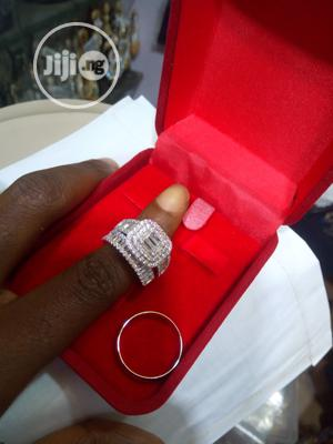 Dubai 925 Sterling Silver Couple's Wedding Ring 04 - Silver | Wedding Wear & Accessories for sale in Lagos State, Ojodu