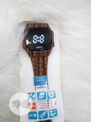 Casio Wood Design LED Display Watch | Watches for sale in Lagos State, Ojodu