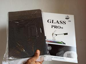 Cover Flip Pouch For Samsung Tablet + Tempered Glass Screen | Accessories for Mobile Phones & Tablets for sale in Lagos State, Ikeja