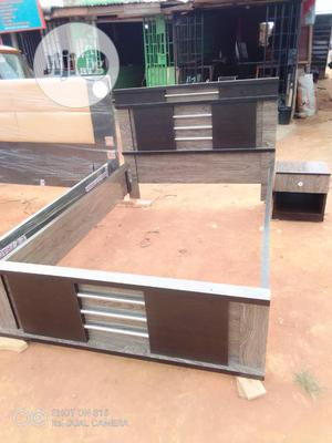 4 1/2 X 6 Bed Frame With Drawer   Furniture for sale in Lagos State, Ikotun/Igando