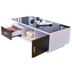 Center Table With Glass Top and Drawers | Furniture for sale in Lagos State, Ikeja