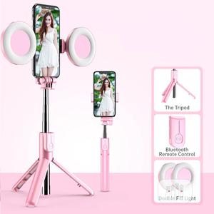 4in1 Wireless Bluetooth Selfie Stick LED Ring Light   Accessories for Mobile Phones & Tablets for sale in Lagos State, Alimosho