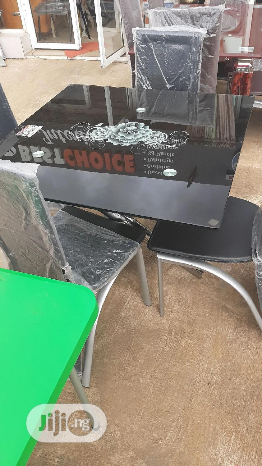 Glass Dinning Table With 4 Chairs   Furniture for sale in Ilorin East, Kwara State, Nigeria