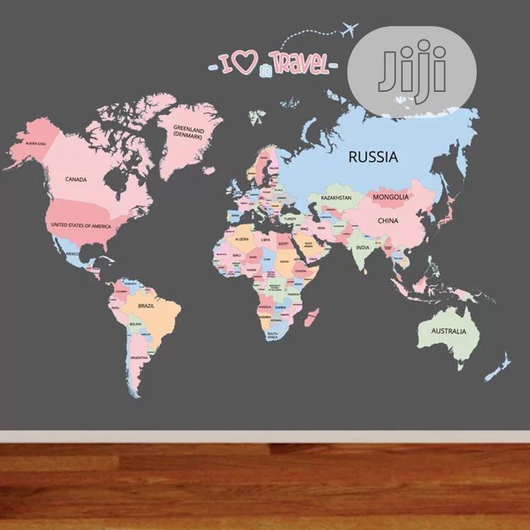 Archive: World Map Wall Sticker