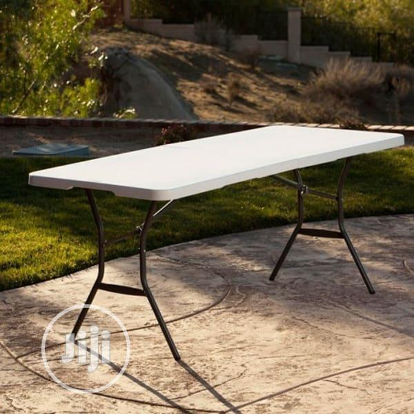 Archive: Lifetime Fold in Half Utility Table 6 Feet, White