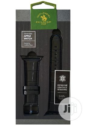 Santa Barbara (Polo & Racquet) Club Leather Apple Watch Band   Smart Watches & Trackers for sale in Lagos State, Ikeja