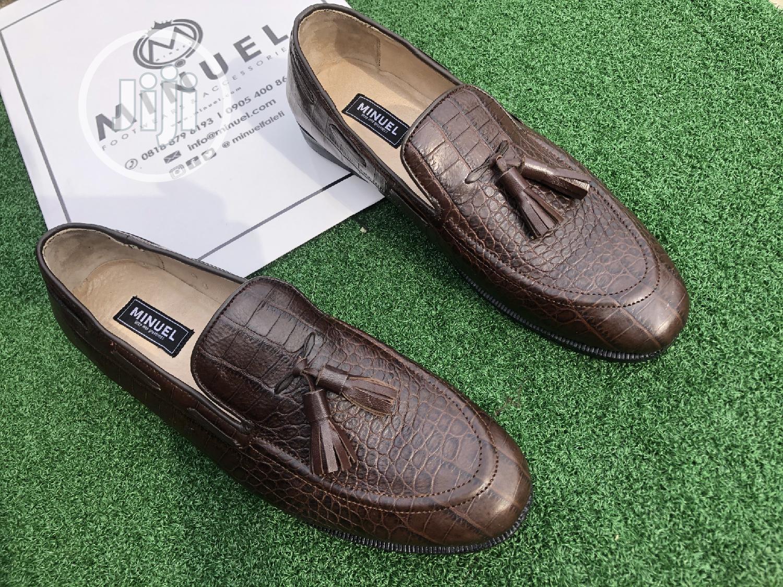 Brown Skin Tassel Loafers