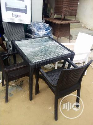 Super Unique Set of Basket/Garden Table Stand, With 4 Chairs | Furniture for sale in Imo State, Owerri