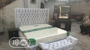 6x6 Upholstery Bedframe Wit Imported Mattress Mattress | Furniture for sale in Lagos State, Ojo