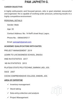 Computing & IT CV | Computing & IT CVs for sale in Lagos State, Ikoyi